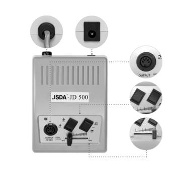 Nagelfräser JSDA Nail Drill JD 500 Silver