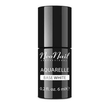 UV Nagellack 6 ml Aquarelle Base White