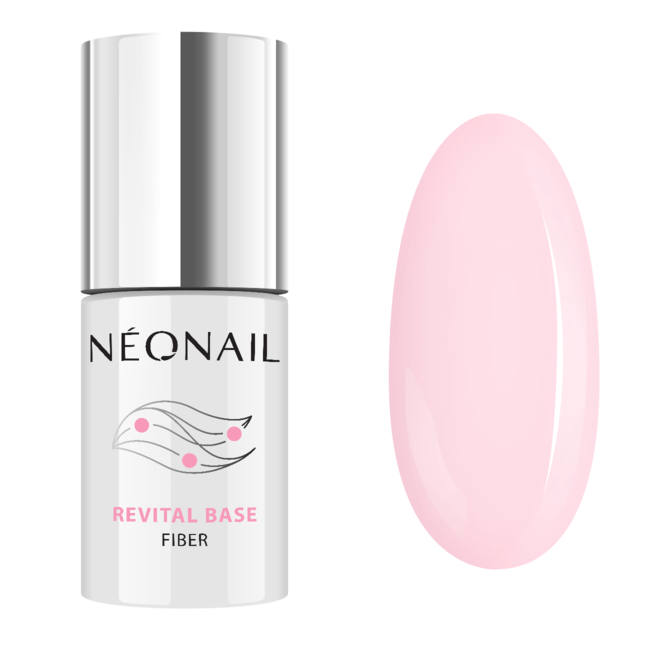 UV Nagellack 7,2 ml Revital Base Fiber Rosy Blush