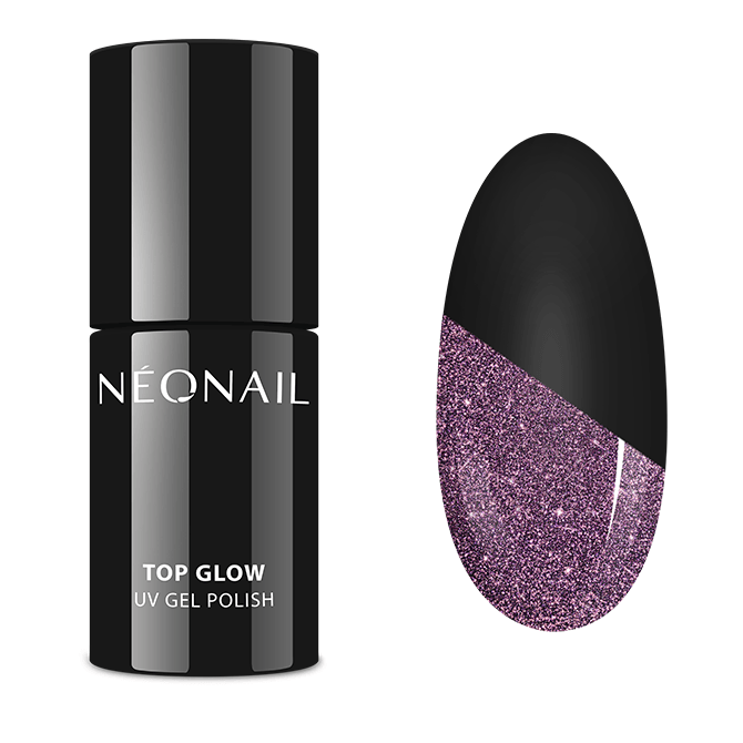 UV Nagellack 7,2 ml - Top Glow Sparkling