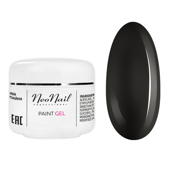 Paint UV Gel Studio Line 5 ml - Black Pearl Nagel