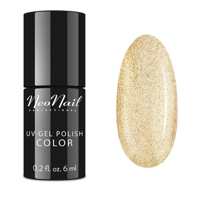 UV Nagellack 6 ml Glitter Gold