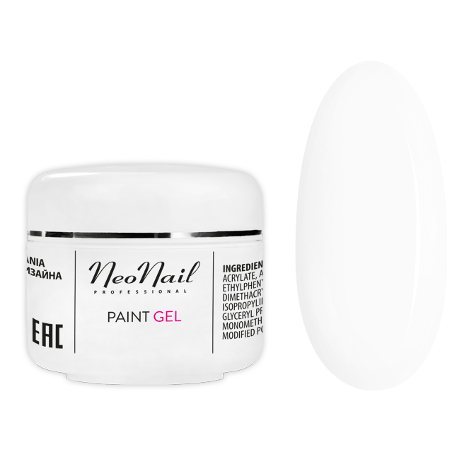 Paint UV Gel Studio Line 5 ml - White Rose Nagel